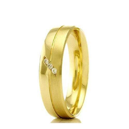 Par de Alianças de Casamento em Ouro 14K