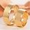 Thumbnail: Par de Alianças Ouro 18K Trabalhada 7 mm
