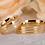 Thumbnail: Par de Alianças Ouro 14K Trabalhada com Coração Vazado
