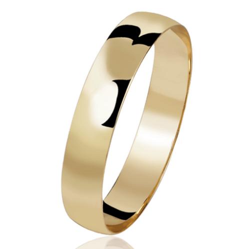 Par de Alianças de Casamento Ouro 18K Tradicional 3,7 m