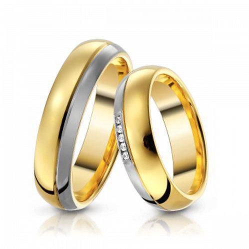 Par de Alianças de Casamento Ouro 18K