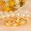 Thumbnail: Par de Alianças Italiana de Casamento em Ouro 14K 4 mm