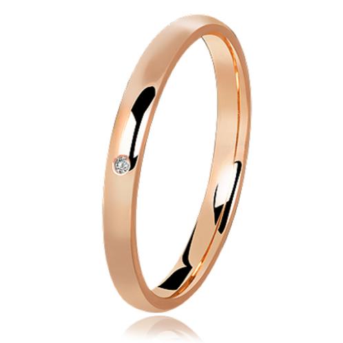 Par de Alianças de Casamento em Ouro 18K Tradicional Rosé