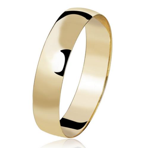 Par de Alianças de Casamento em Ouro 18K Tradicional 4,5 mm