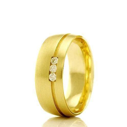 Par de Alianças de Casamento  em Ouro 14K 7 mm