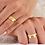 Thumbnail: Par de Alianças de Casamento em Ouro 14K Trabalhada 7 mm