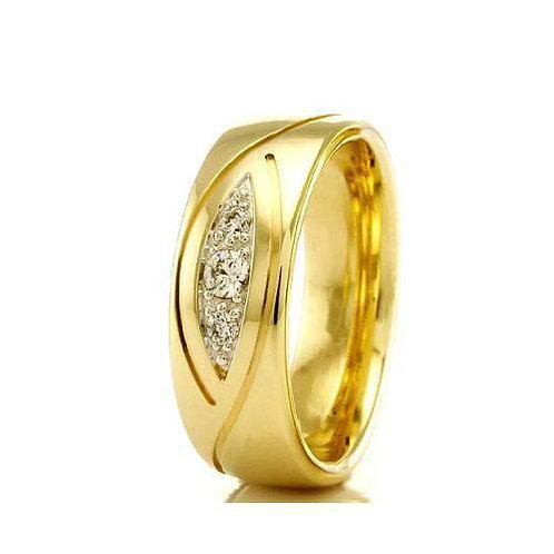 Par de Alianças de Casamento em Ouro 18K 6 mm