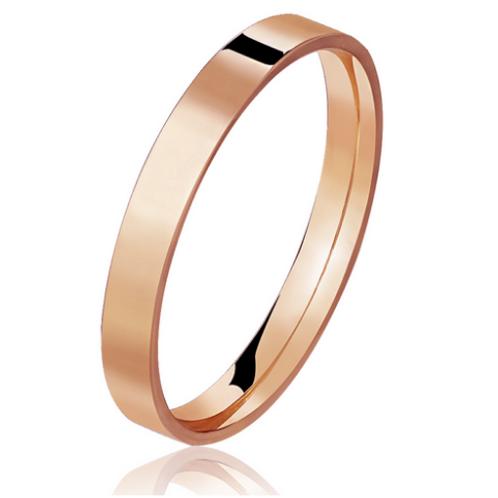 Par de Alianças Quadrada de Casamento em Ouro 18K Rosé