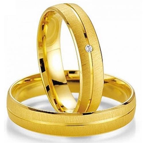 Par de Alianças de Casamento em Ouro 18K Foscas 5mm