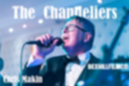 Chris Makin the leads singer of The Chandeliers Singing for The Chestnut Tree Charity at Bannatynes Hotel in hastings