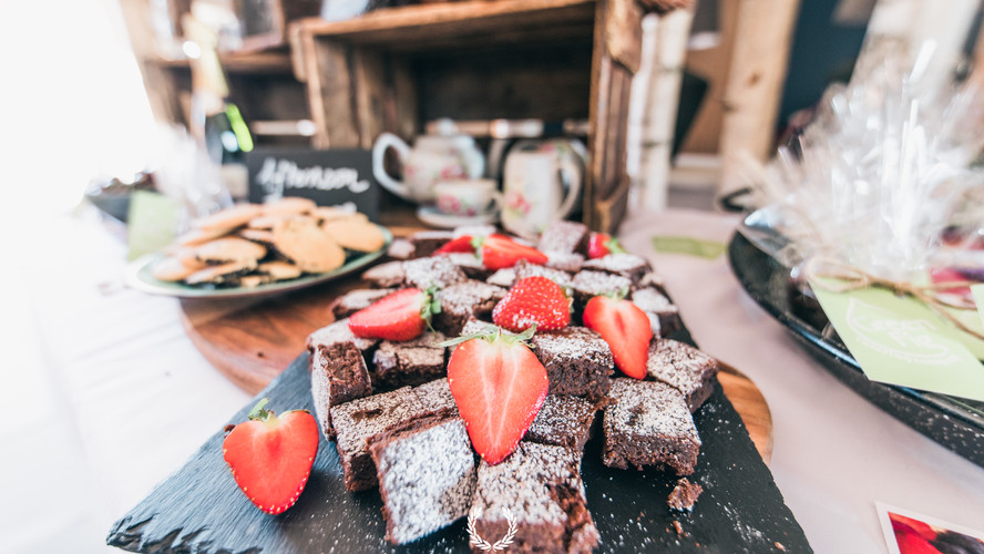 Strawberry and Brownie horderves