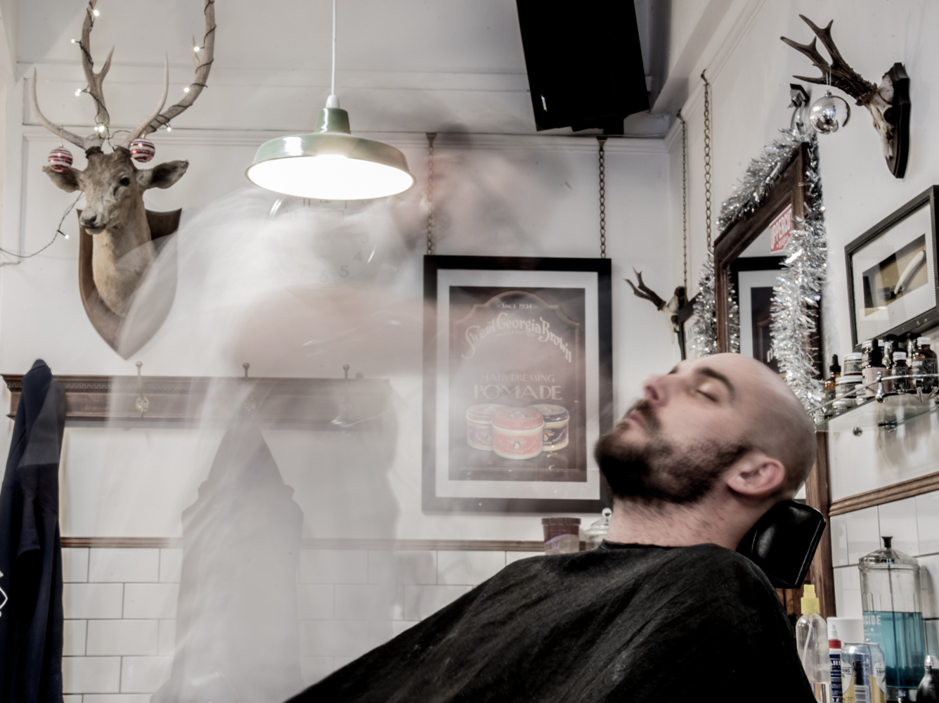 Bexhill Barbershop ghost barber