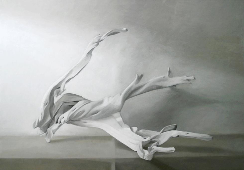 Isabelle de la Touche artiste peintre à Etoy - Vaud - Suisse - nature morte - Branches - huile sur t
