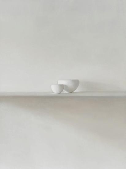 Etude 2 pour 2 bols blancs 97x130 cm