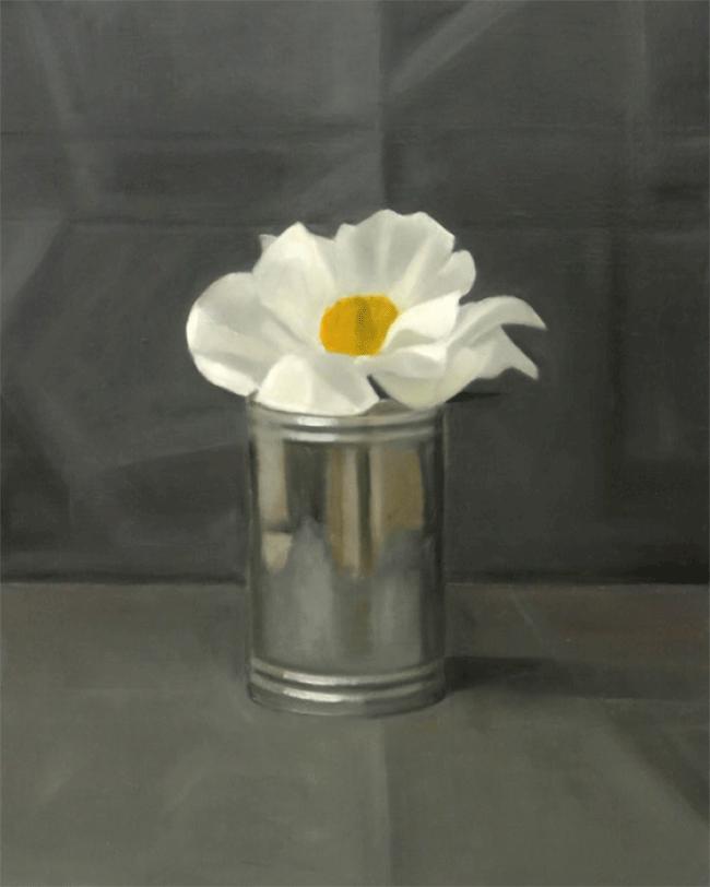 Isabelle de La Touche peintre suisse - Lausanne - pivoine - huile sur toile