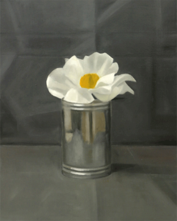 Isabelle de la Touche swiss artist - painter - Geneva - a white peony - oil on canvas