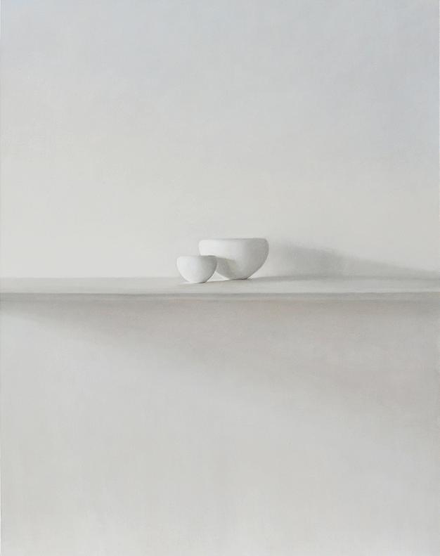 Etude 4 pour 2 bols blancs 130x162cm