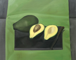 Isabelle de la Touche swiss painter - Lausanne - Geneva - avocadoes - bodegon - oil on canvas - mexi