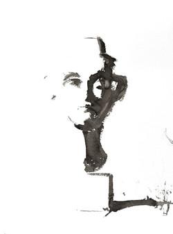 Isabelle de la Touche artiste peintre - buste de Nefertiti - encre de Chine