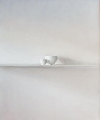 Etude 5 pour 2 bols blancs 46x56 cm
