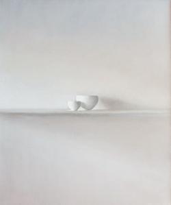 Isabelle de la Touche peintre suisse - Nature morte - bols - huile sur toile et tempera