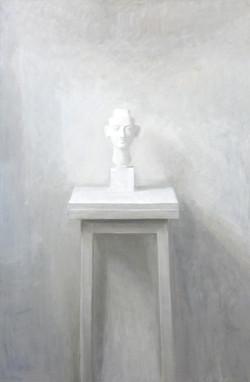 Isabelle de la Touche artiste peintre - buste de Nefertiti - huile sur toile