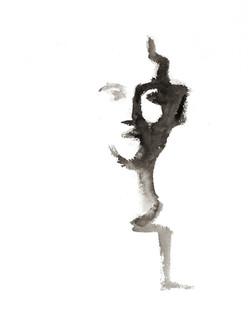 Isabelle de la Touche artiste peintre - tête de Nefertiti - encre de Chine
