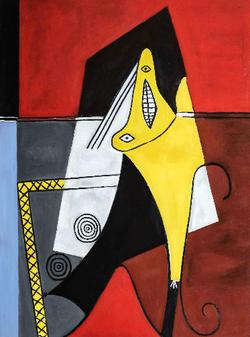 Isabelle de La Touche - copiste - suisse - copie peinture - Picasso - huile sur toile - Fondation Be