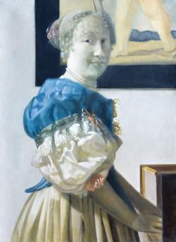 Isabelle de La Touche - copiste suisse - copie Vermeer - National Gallery Londres - huile sur toile