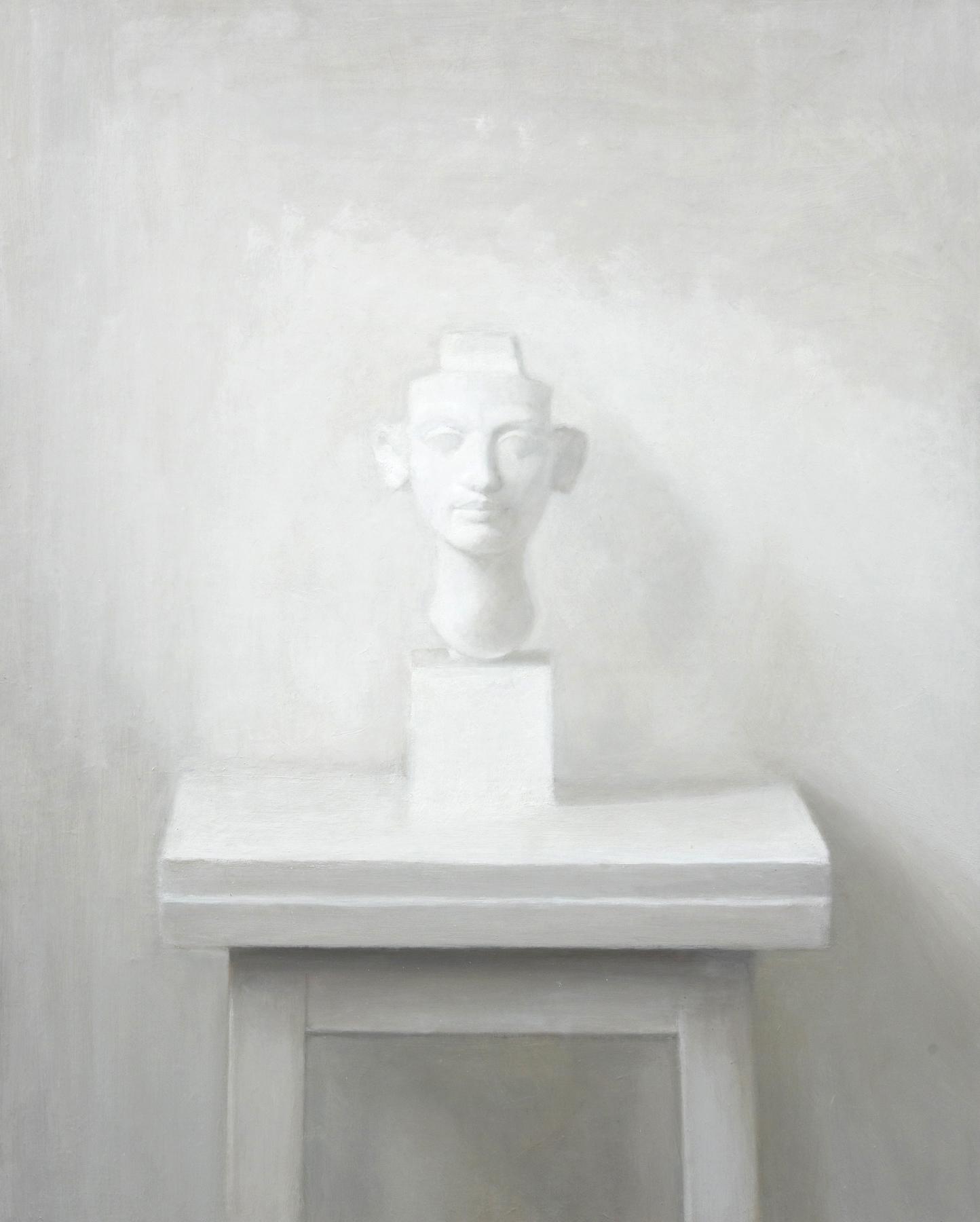 Isabelle de la Touche painter - Nefertiti bust - oil on canvas