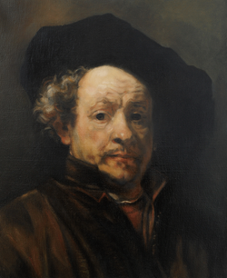 Isabelle de La Touche - peintre copiste suisse - copie Rembrandt - huile sur toile