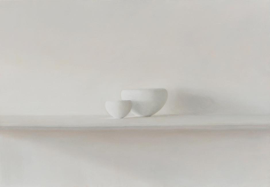 Etude 1 pour 2 bols blancs 116x81cm