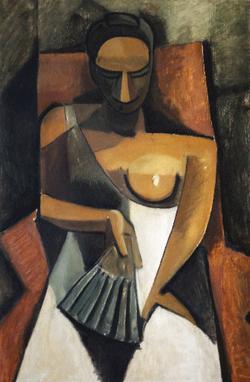 Isabelle de La Touche - peintre copiste Vaud - copie Picasso - Musée de l'Ermitage St-Petersbourg -