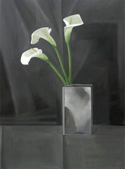 Isabelle de la Touche swiss painter - Morges - calla lily - alcatraz -  - oil on canvas