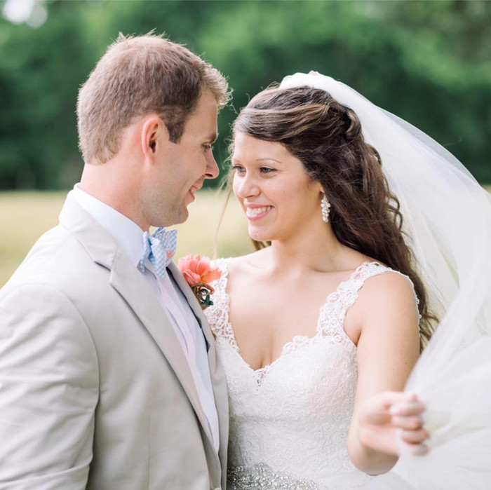 Spencer & Kelley: Eastern Shore Garden Wedding at Elkington