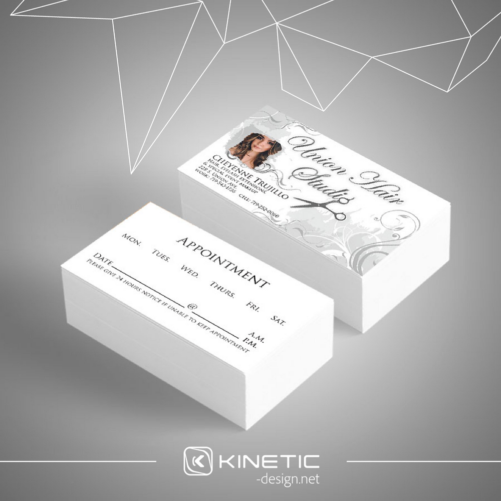 Union Hair Studio Business Card gray picture