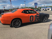 Challenger Dukes of Hazard Ripped Metal Graphic