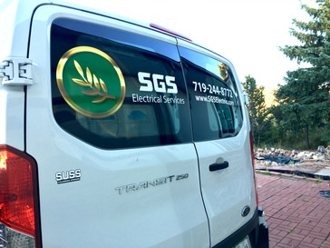 SGS Electric Van Decals