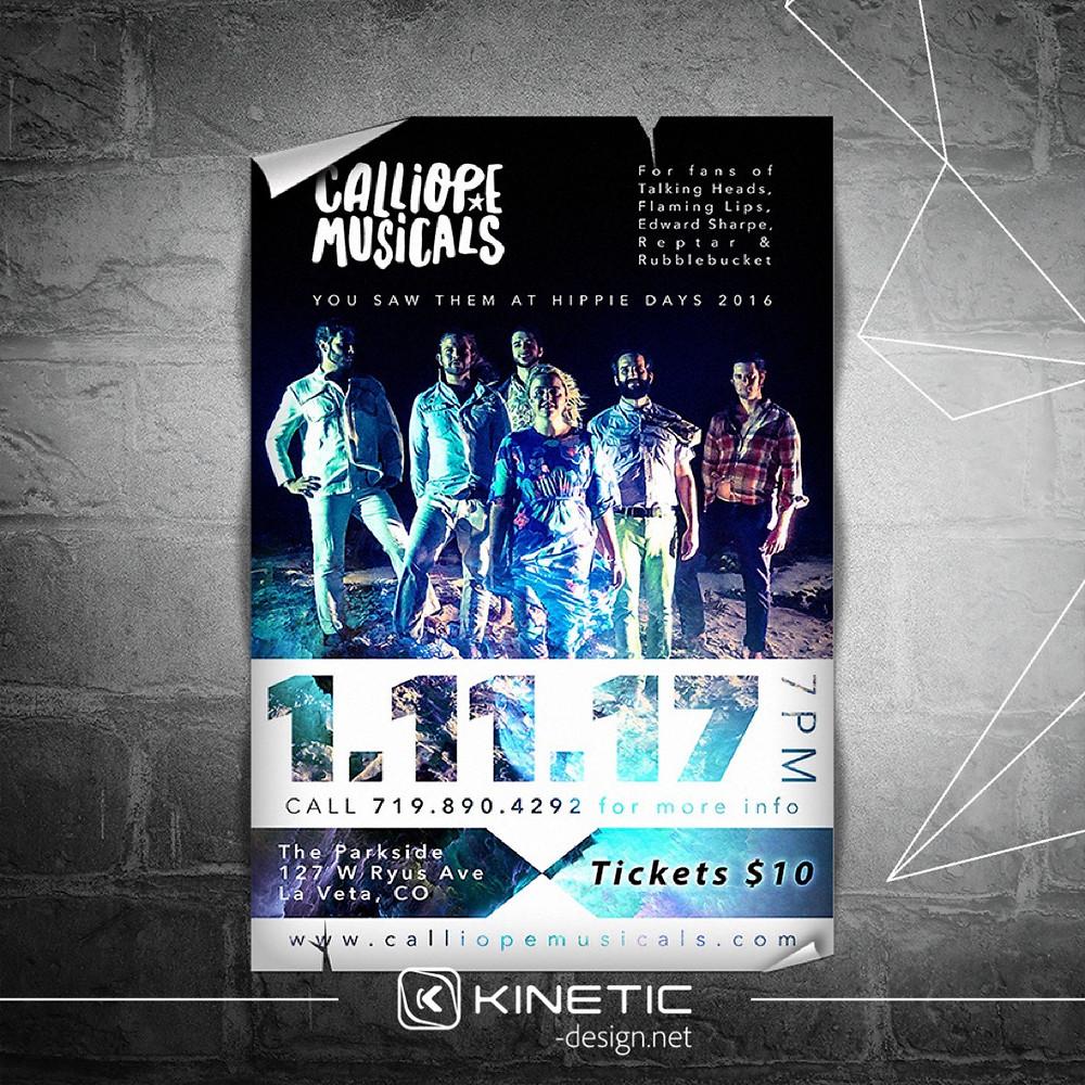 Calliope Musicals concert poster design for Fox Theatre Walsenburg, CO