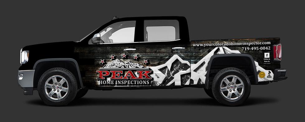 Peak Home Inspections Vehicle Wrap