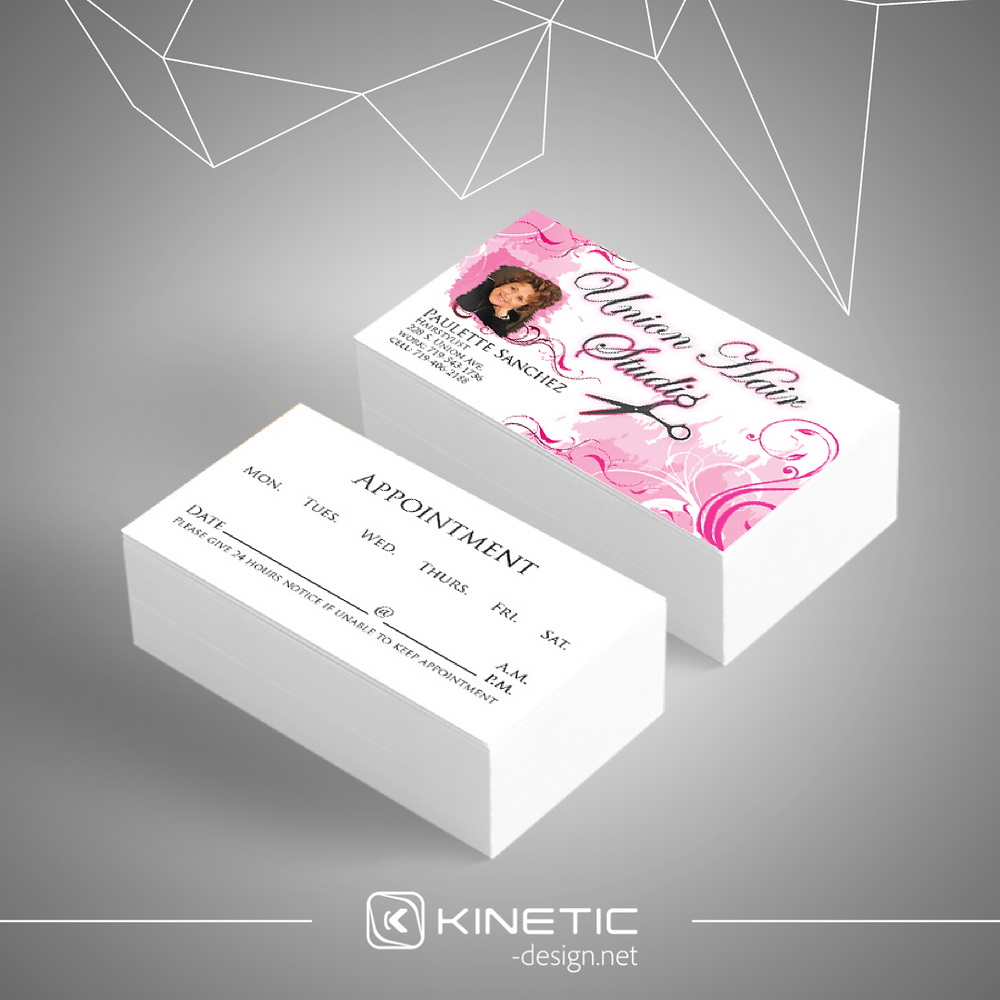 Union Hair Studio Business Cards Pink