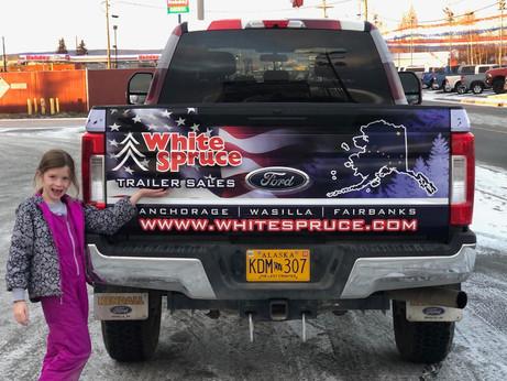 White Spruce Vehicle Wrap