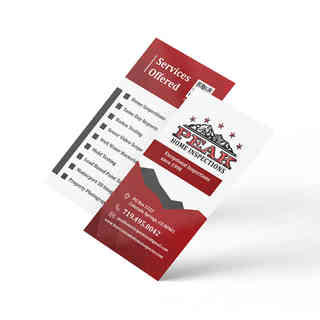 Peak Home Inspections Business Cards