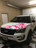 Floral Ford Explorer Decals