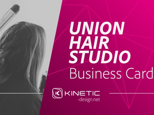 Business Card Design for Union Hair Studio in Pueblo, CO
