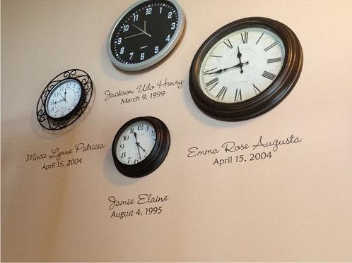 Birthdate Clocks