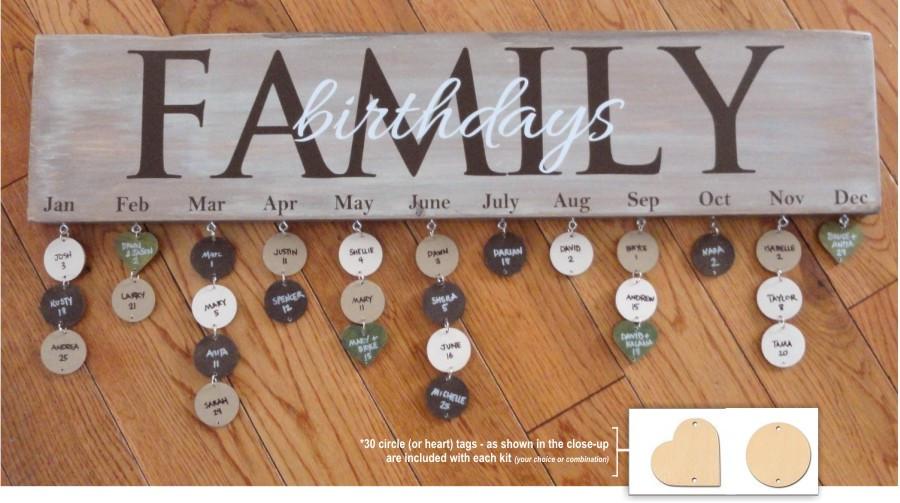 birthday calendar kit