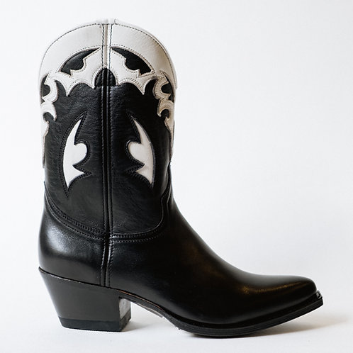 Sendra Cowboy Black & White Boots