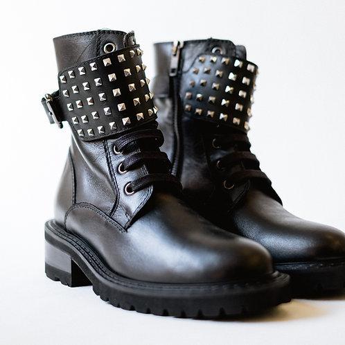 Via Roma Combat Boots
