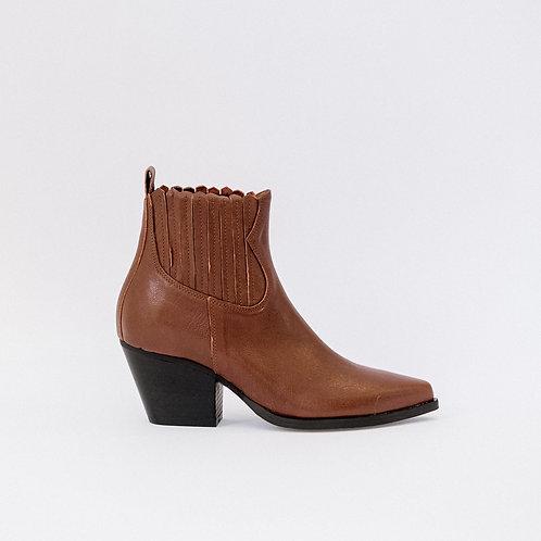 Bianca Di Cowboy Ankle Boots